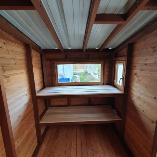 Vue intérieure de la cabane