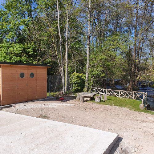 Intégration de la cabane dans la nature